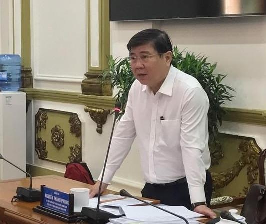 Chủ tịch UBND TP.HCM Nguyễn Thành Phong phát biểu trong buổi đối thoại với 36 doanh nghiệp bất động sản vào ngày 22/2/2020. Ảnh theo VOV