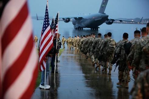 Lực lượng không quân Mỹ ra quân. Ảnh: AP.