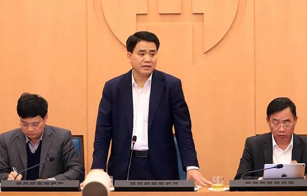 Chủ tịch UBND Thành phố Nguyễn Đức Chung yêu cầu tất cả các quận huyện quán triệt các biện pháp phòng chống dịch.