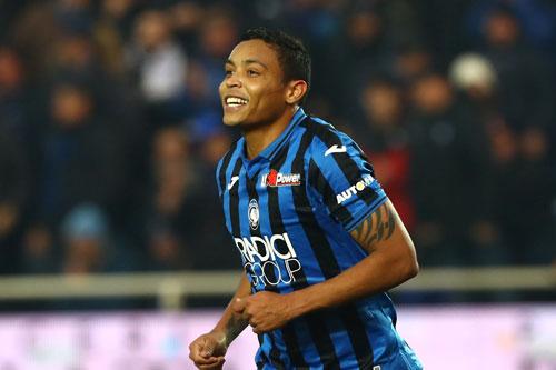 =6. Luis Muriel (Atalanta, 12 bàn).