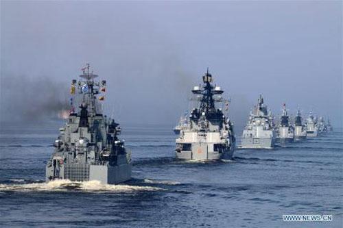 Lầu Năm Góc công bố bản đồ hải quân Nga hoạt động