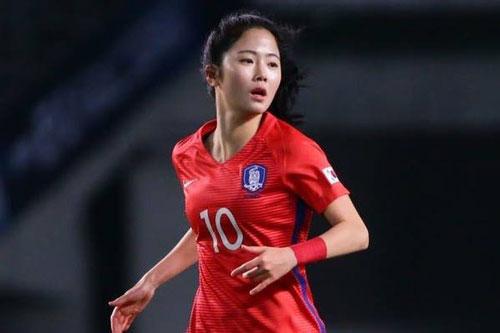 Lee Mina: 28 tuổi, tiền vệ ĐT Hàn Quốc. Ảnh: Truoctran.com.