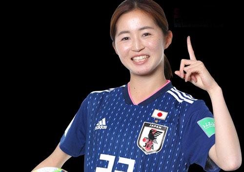 Risa Shimizu: 23 tuổi, tiền vệ ĐT Nhật Bản. Ảnh: Ngoisao.net.