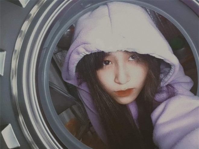 sao việt chụp trong lồng giặt 0