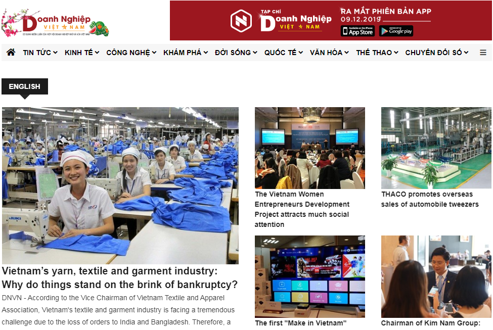 Vietnam Enterprises Newspaper ranked highest among 11 press and media agencies at the XII Cooperation - Connection and Business Development forum.