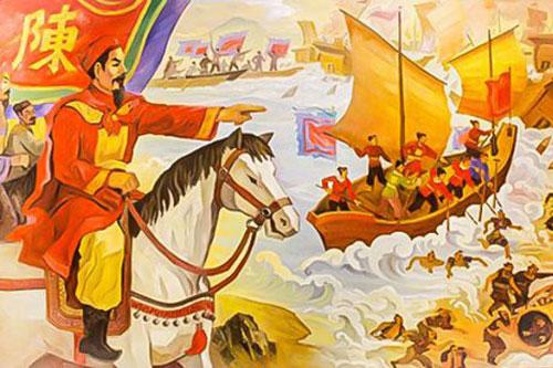 Tranh minh họa Trận Bạch Đằng 1288