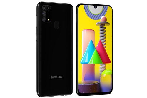 Sức mạnh phần cứng của Samsung Galaxy M31 đến từ chip Exynos 9611 (10nm) lõi 8 với xung nhịp tối đa 2,3 GHz, GPU MP3-G72 MP3. RAM 6 GB đi kèm bộ nhớ trong 64 hoặc 128 GB, có khay cắm thẻ microSD với dung lượng tối đa 512 GB. Hệ điều hành Android 10.0, được tuỳ biến trên giao diện One UI 2.0.