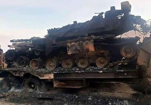 Xe tăng Thổ Nhĩ Kỳ bị tên lửa Tochka-U phá nát