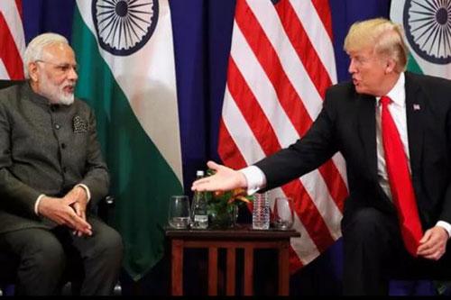 Thủ tướng Ấn Độ Narendra Modi và Tổng thống Mỹ Donald Trump (Ảnh: Reuters)