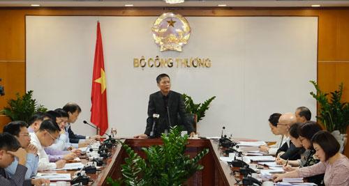 Bộ trưởng Bộ Công Thương Trần Tuấn Anh chỉ đạo cuộc họp ngày 26/2. Ảnh: VGP/Phan Trang