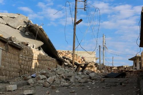 Phiến quân đã chiếm được thành phố Serakib nằm ở phía đông của tỉnh Idlib. Ảnh: Anadolu.
