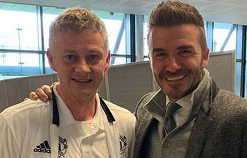 Solskjaer và Beckham.
