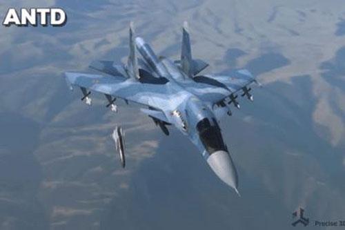 Máy bay chiến đấu Su-34 đang phóng tên lửa