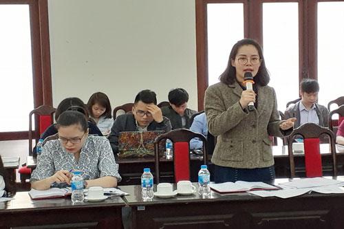 Đại diện Cục Quản lý đăng ký kinh doanh phát biểu tại Hội thảo.