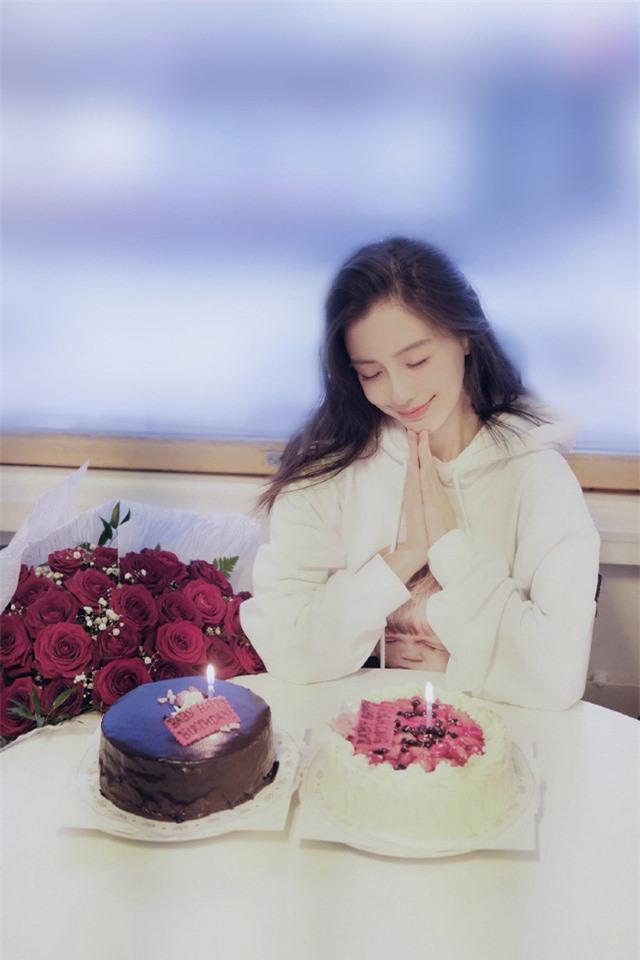 Angelababy rạng rỡ đón sinh nhật tuổi 31, Huỳnh Hiểu Minh vẫn vắng mặt - Ảnh 3.