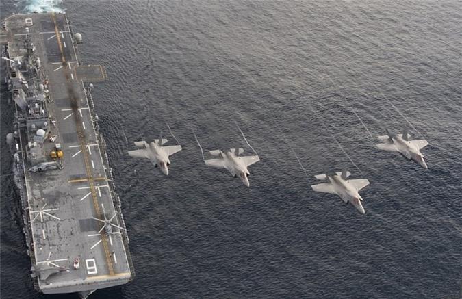 Mô hình thoát khí và đặc tính bay của F35B đòi hỏi phải tiến hành gia cố các hệ thống chịu lực trên tàu; di chuyển vị trí hoặc loại bỏ một số thiết bị không cần thiết tránh xảy ra trường hợp khi máy bay cất, hạ cánh hoặc tác chiến có thể gây tổn hại đến các hệ thống antena, xuồng cứu sinh, lan can mạn tàu, lưới bảo vệ và trạm nhiên liệu JP-5.