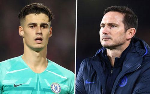 Kepa (trái) Lampard.