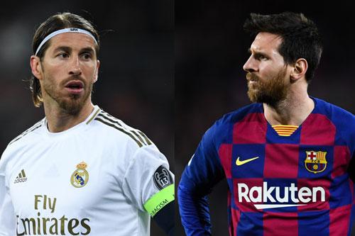 Ramos và Messi (phải).