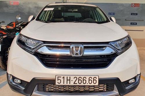 Honda CR-V biển số tứ quý 6. Ảnh: Báo Tổ quốc.