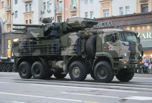 Hệ thống tên lửa phòng thủ Pantsir. Ảnh: Wikipedia