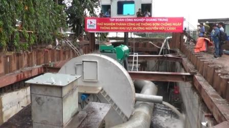 Siêu máy bơm đường Nguyễn Hữu Cảnh được TPHCM thuê 14,2 tỉ đồng/năm.