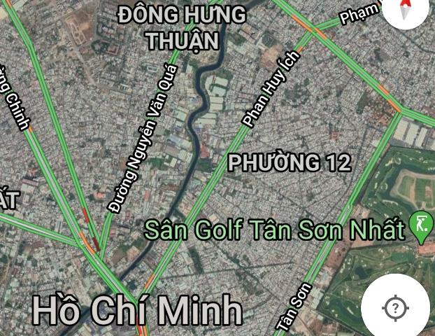 Đoạn kênh Tham Lương giữa hai đường Nguyễn Văn Quá và Phan Huy Ích được đề xuất sử dụng siêu máy bơm tiêu nước.