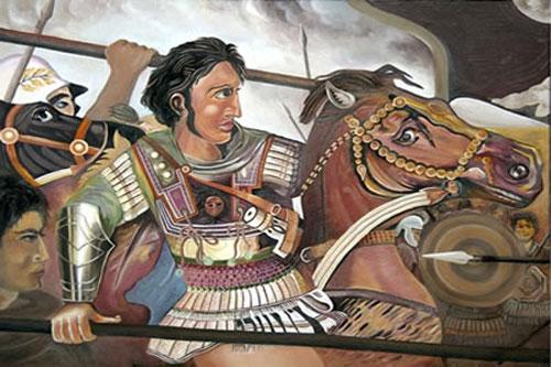Tranh khắc họa Alexander Đại đế.
