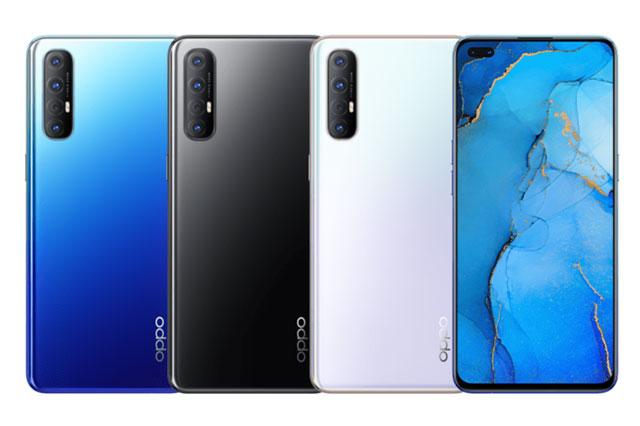 Oppo Reno3 Pro có 3 tùy chọn màu sắc gồm Midnight Black, Sky White và Auroral Blue, lên kệ ở Ấn Độ từ ngày 6/3. Giá của phiên bản ROM 128 GB là 29.990 Rupee (tương đương 9,76 triệu đồng). Phiên bản ROM 256 GB có giá 32.990 Rupee (10,73 triệu đồng).