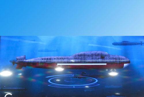 Hình ảnh mô tả con tàu ngầm mới của Nga
