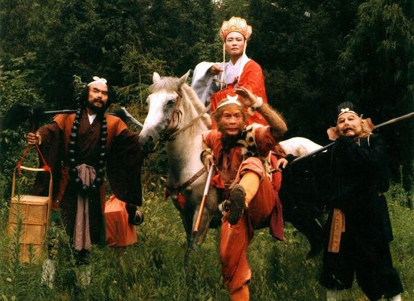 Các diễn viên trong những ngày đầu của đoàn Tây Du Ký.