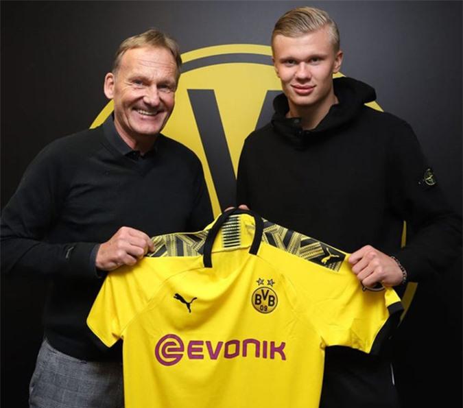 Erling Haaland gia nhập Dortmund vào tháng 1/2020