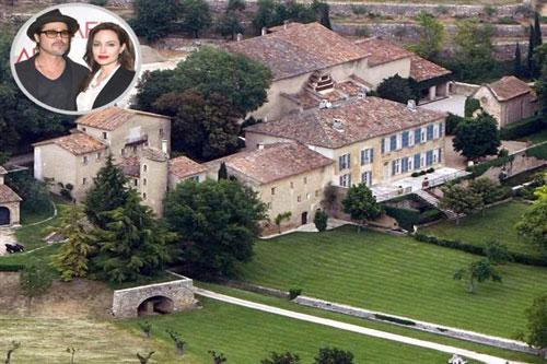 3. Cặp vợ chồng nổi tiếng Hollywood Brad Pitt và Angellina Jolie sở hữu căn biệt thự lên đến 67 tỷ
