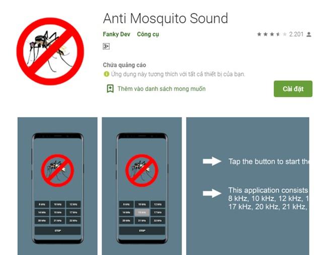Thực hư ứng dụng thần thánh giúp đuổi muỗi bằng smartphone - Ảnh 1.