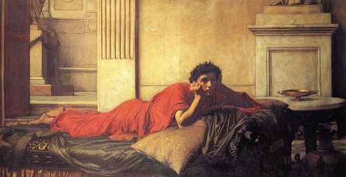 Tranh của họa sĩ John William Waterhouse vẽ Nero hối hận sau khi giết mẹ mình.