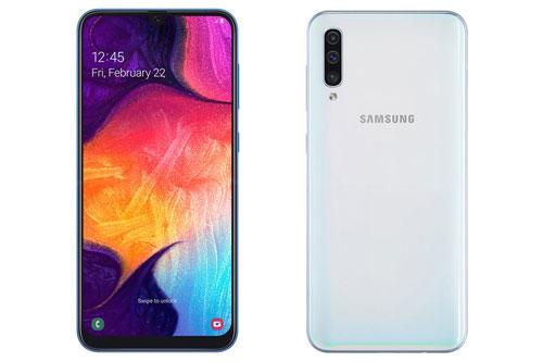 Samsung Galaxy A50. Phiên bản ROM 128 GB từ 7,99 triệu đồng xuống 6,39 triệu đồng. Phiên bản ROM 64 GB từ 6,99 triệu đồng xuống 4,99 triệu đồng).