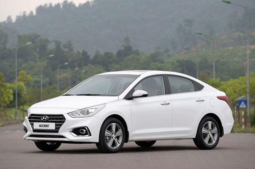 2. Hyundai Accent (doanh số: 1.164 chiếc).