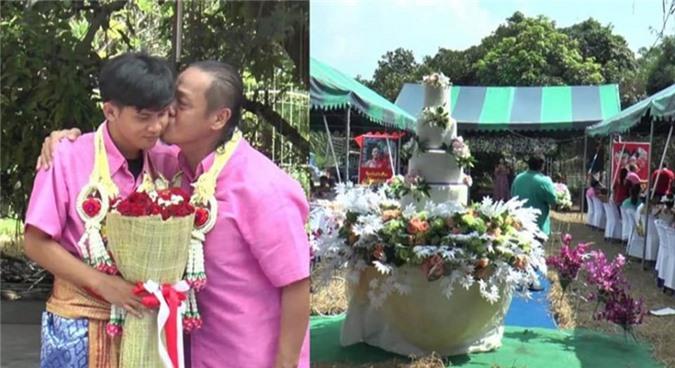Đám cưới của cặp đôi đũa lệch gây xôn xao mạng xã hội.