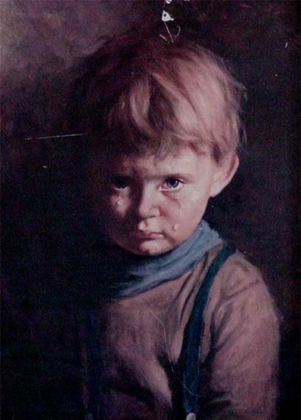 """Giải mã lời nguyền chết chóc bí ẩn xung quanh bức tranh nổi tiếng """"Cậu bé khóc"""" - 1"""
