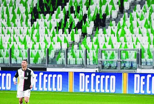 Một số trận đấu ở giải bóng đá châu Âu đã diễn ra mà không có khán giả