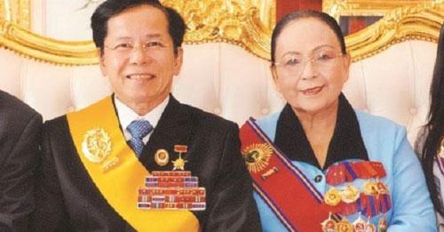 Ông Lê Văn Kiểm và bà Trần Cẩm Nhung - Đồng sáng lập Công ty Cổ phần Đầu tư và Thương mại Golf Long Thành.