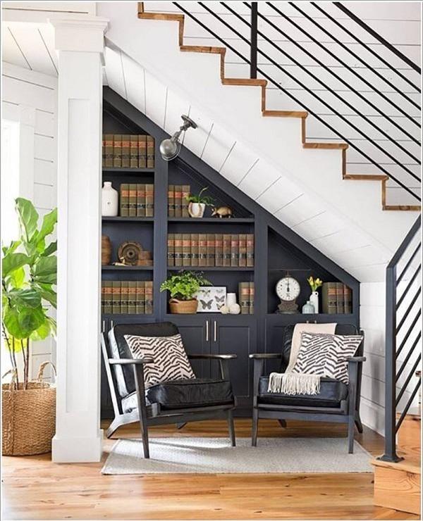Đừng bỏ trống gầm cầu thang vì biết cách tận dụng, nhà chật đến mấy cũng sẽ rộng gấp đôi - 2