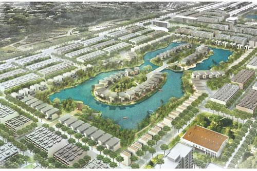 Khu nhà ở Newcity tại xã An Vĩ, huyện Khoái Châu có diện tích khoảng 9,9 ha.