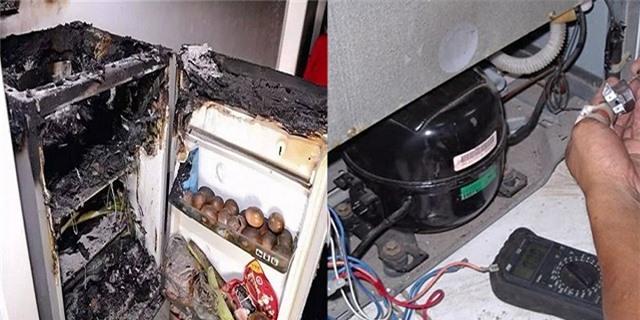 Tủ lạnh là vật dụng dễ gây cháy nổ