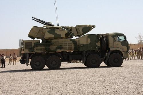 Hệ thống tên lửa - pháo phòng không tầm thấp Pantsir-S1 của Quân đội Iraq. Ảnh: Al Masdar News.