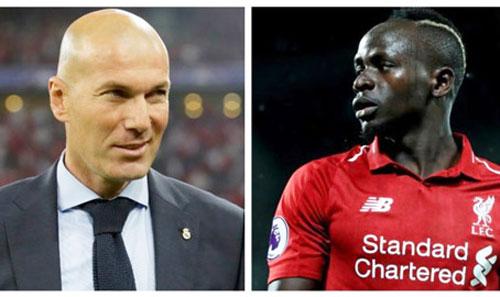 Zidane dự tính chi 140 triệu bảng để chiêu mộ Sadio Mane.