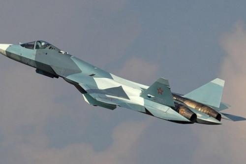 Tiêm kích tàng hình thế hệ 5 Sukhoi Su-57 của Nga. Ảnh: RIA Novosti.