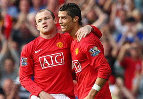 Wayne Rooney và Cristiano Ronaldo.