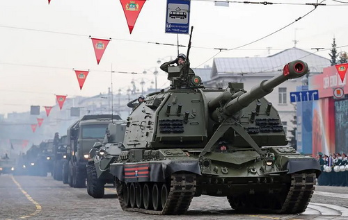 Phiên bản nâng cấp của pháo tự hành bánh xích 152 mm Msta-S sẽ có sức mạnh vượt trội so với hiện tại. Ảnh: TASS.