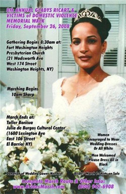 Cô dâu Glady Ricart tử nạn ngay trong đám cưới của mình vì sự máu lạnh của người yêu cũ